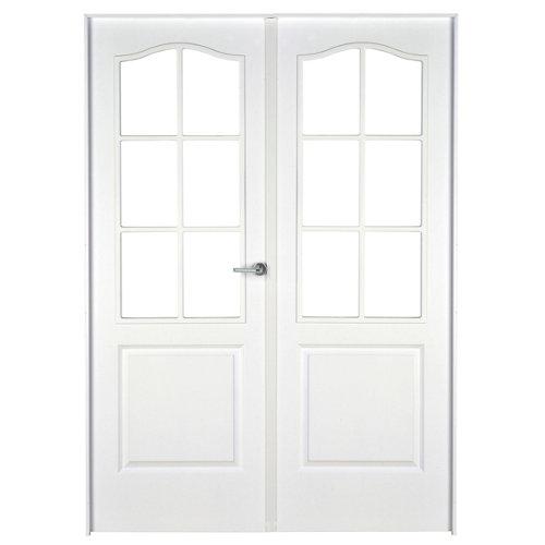 puerta praga blanco de apertura izquierda de 145 cm