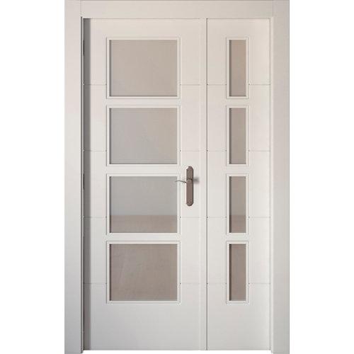 puerta lucerna blanco de apertura izquierda de 115 cm