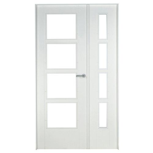 puerta noruega blanco de apertura izquierda de 125 cm