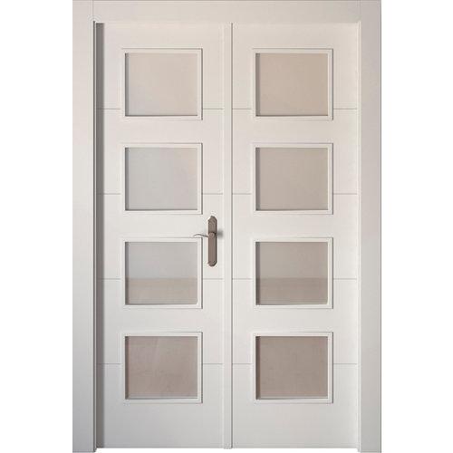 puerta lucerna blanco de apertura izquierda de 145 cm