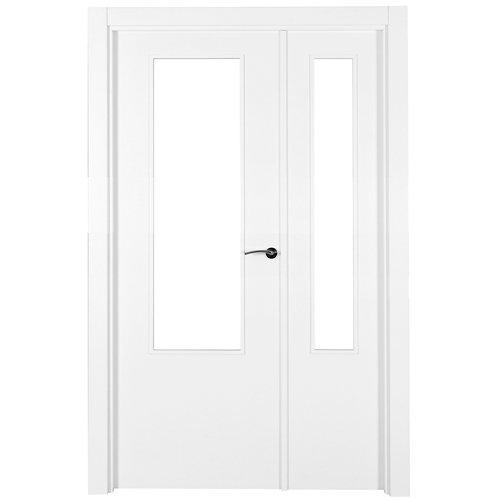 puerta lyon blanco de apertura izquierda de 125 cm