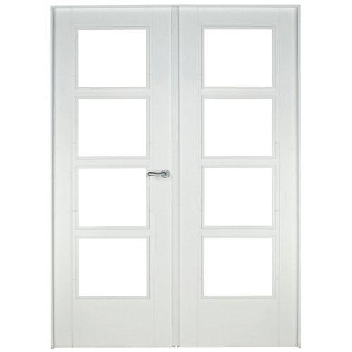puerta noruega blanco de apertura izquierda de 145 cm