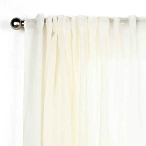 Cortina abby con motivo liso blanco de 280 x 200 cm