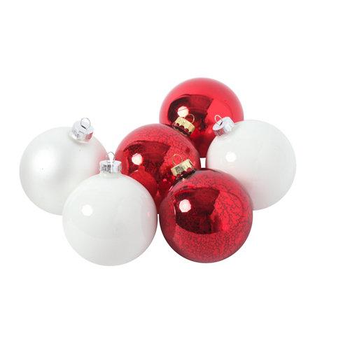 Set de 6 bolas navideñas de vidrio de ø 8 cm