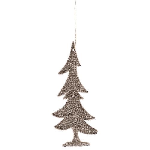 Adorno para el árbol plástico color champagne 11 cm