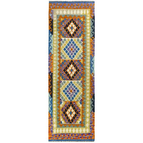 Alfombra de lana kilim herat 80x250 cm