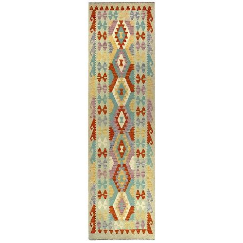 Alfombra de lana kilim herat 80x300 cm