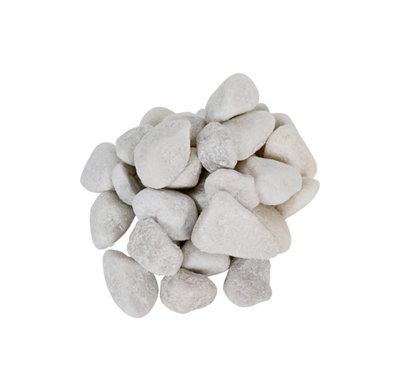 Saco de piedra calcárea rodada Blanco 20 kg 12 y 18 mm