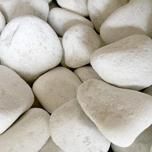 Saco de piedra calcárea rodada blanco 20kg 60 y 100 mm