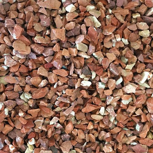 Saco de piedra natural triturada rojo 1000kg 8 y 12 mm