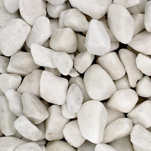 Saco de piedra calcárea rodada blanco 7kg 12 y 18 mm