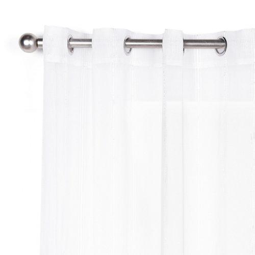 Visillo con ollaos liza blanco 140x280 cm