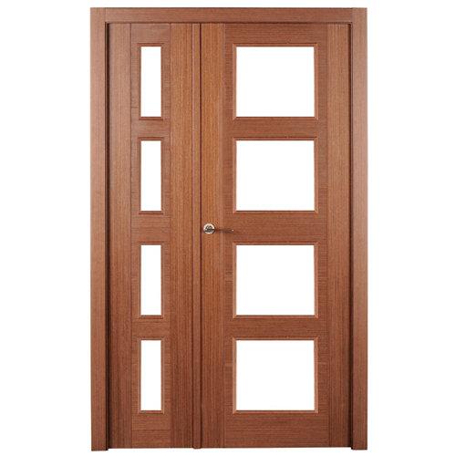 puerta noruega wengué de apertura derecha de 115 cm