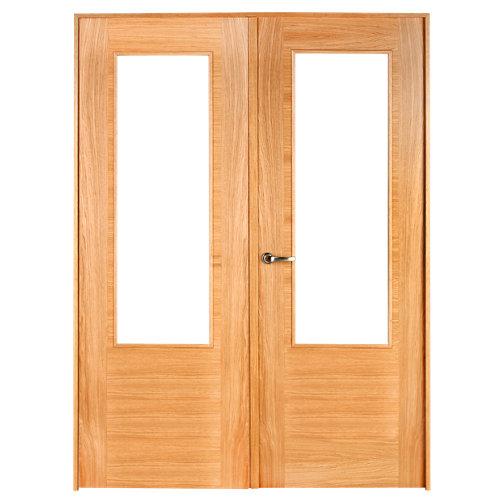 puerta niza roble de apertura derecha de 125 cm