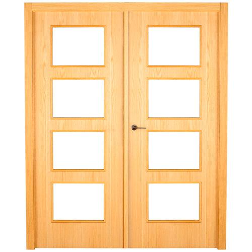puerta sidney roble de apertura derecha de 125 cm