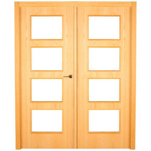 puerta sidney roble de apertura izquierda de 125 cm