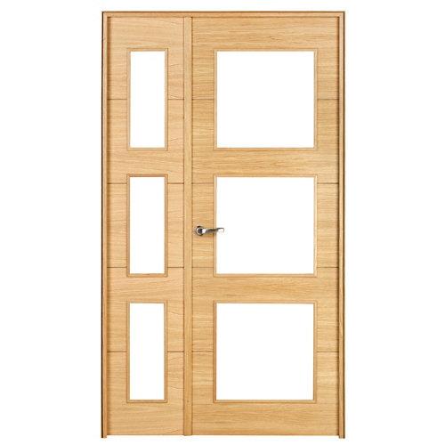 puerta viena roble de apertura derecha de 115 cm