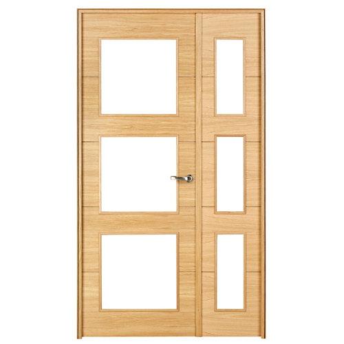 puerta viena roble de apertura izquierda de 125 cm