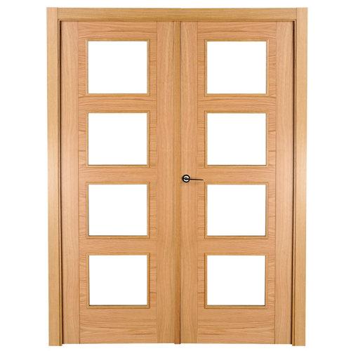 puerta noruega roble de apertura derecha de 125 cm
