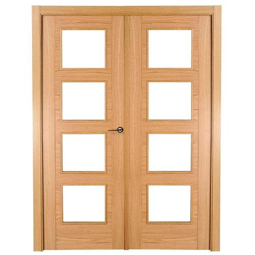 puerta noruega roble de apertura izquierda de 125 cm
