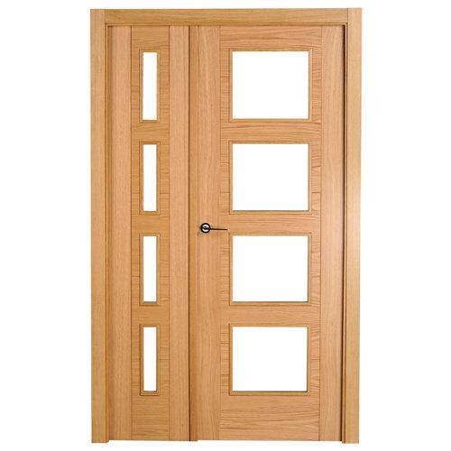puerta noruega roble de apertura derecha de 105 cm
