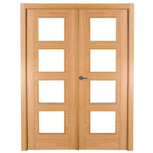 puerta noruega roble de apertura derecha de 145 cm
