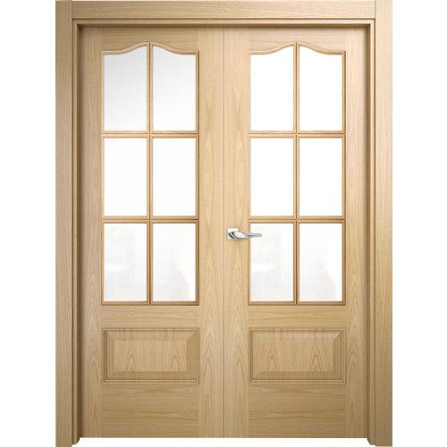 puerta roma roble de apertura izquierda de 125 cm
