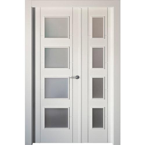 puerta noruega plus blanco de apertura izquierda de 125 cm