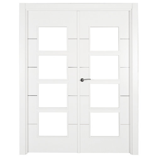 puerta paris blanco de apertura derecha de 145 cm