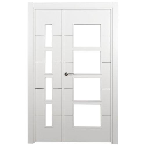 puerta paris blanco de apertura derecha de 115 cm