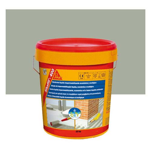 Impermeabilizante sikafill 400 gris de 20 kg