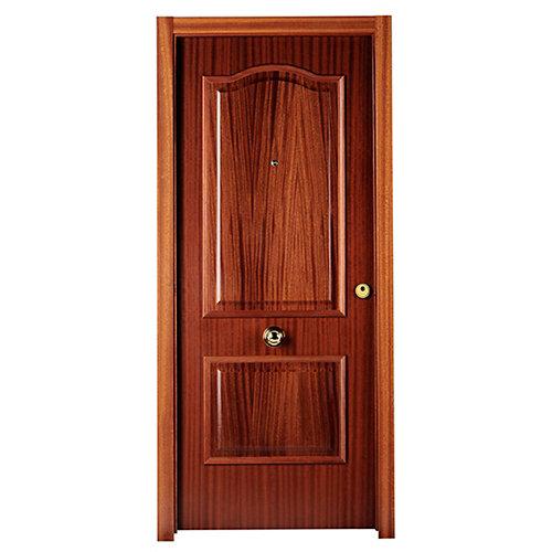 Puerta de entrada blindada povenzal izquierda sapelly/blanco de 85.7x205 cm