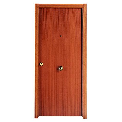 Puerta de entrada blindada noruega derecha sapelly/roble 85.7x205 cm