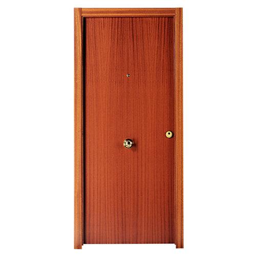 Puerta de entrada blindada noruega izquierda sapelly/roble 85.7x205 cm