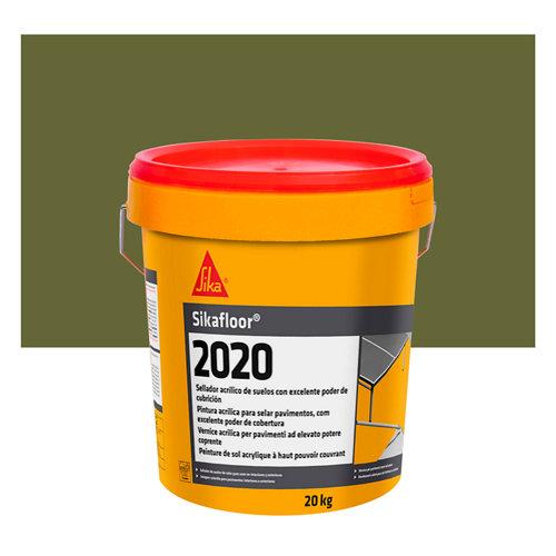 Pintura para pistas deportivas sikafloor 2020 verde de 20 kg