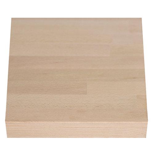 Encimera madera maciza haya bordes rectos biselados 65 x 200 x 26 mm