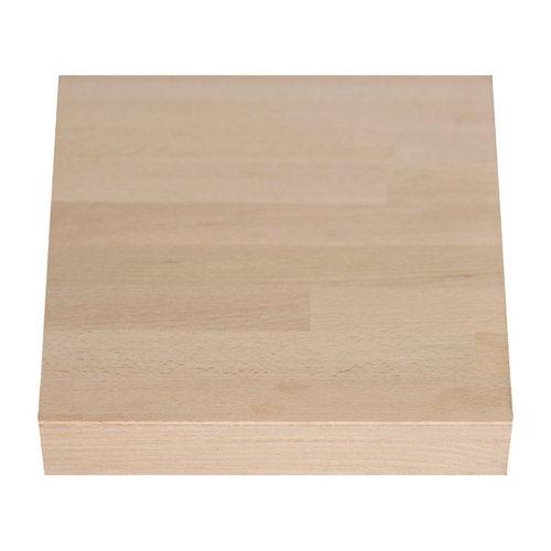 Encimera madera maciza haya bordes rectos biselados 65 x 250 x 38 mm