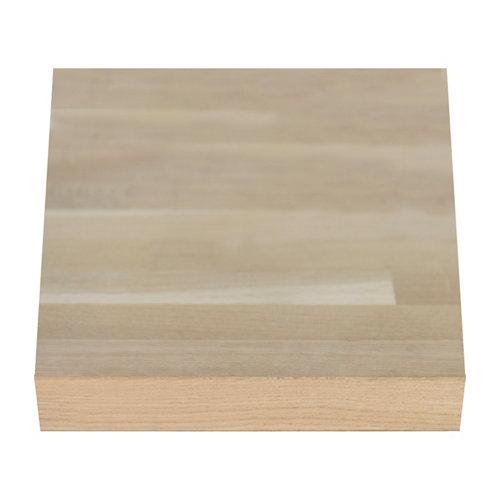 Encimera madera maciza roble bordes rectos biselados 65 x 250 x 38 mm