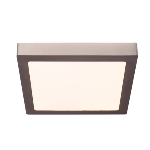 Foco downlight led superficie 22w níquel cuadrado