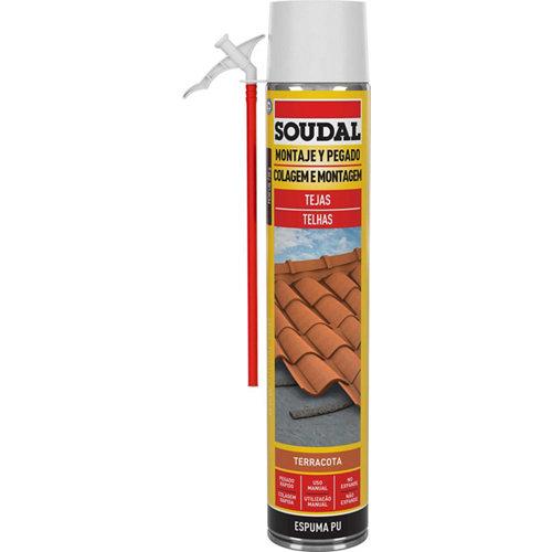 Espuma de poliuretano tejas soudal 750 ml terracota