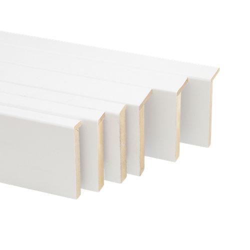 Kit de 6 tapetas en l de madera blanco 80 x 12-80 x 16 mm