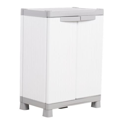 Armario bajo 2 baldas wave 70x98x44 cm para uso interior y exterior