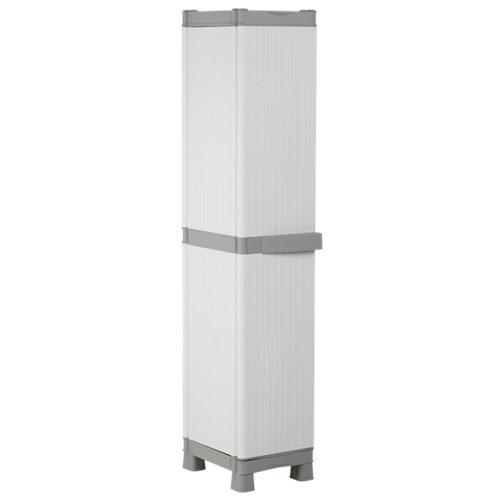 Armario taquillero alto 4 baldas wave 35x182x44 cm para uso interior / exterior
