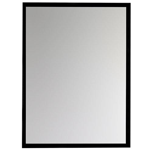 Espejo de baño argo negro 60 x 80 cm
