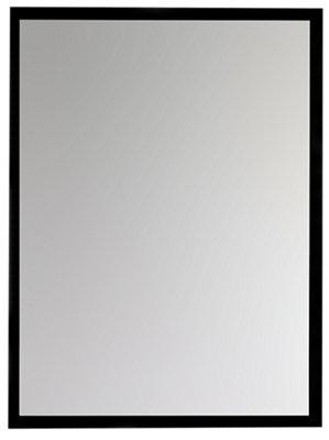 Espejo de baño Argo negro 100 x 80 cm