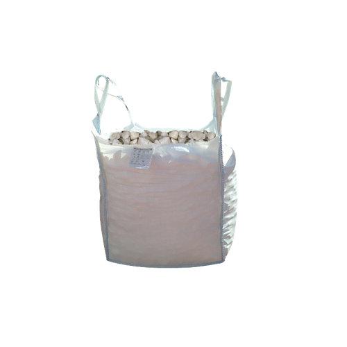 Saco de piedra calcárea triturada blanco 1000kg 8 y 12 mm