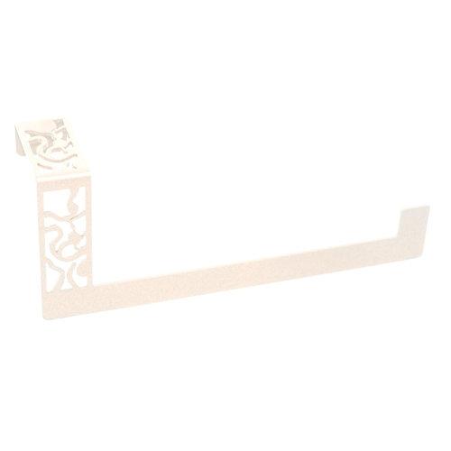 Toallero art deco blanco brillante 24x10 cm