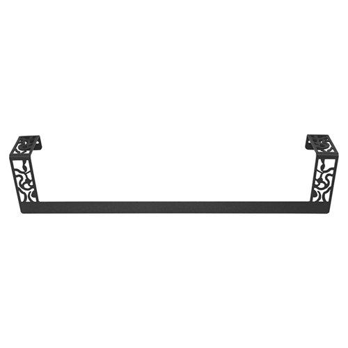Toallero art deco negro brillante 48.5x10 cm