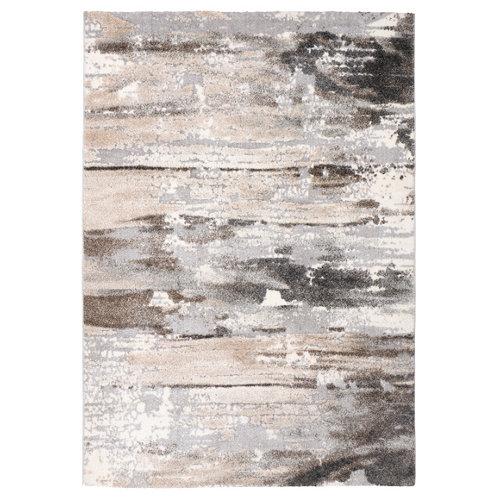 Alfombra gris polipropileno elke 14090 gris 200 x 290cm