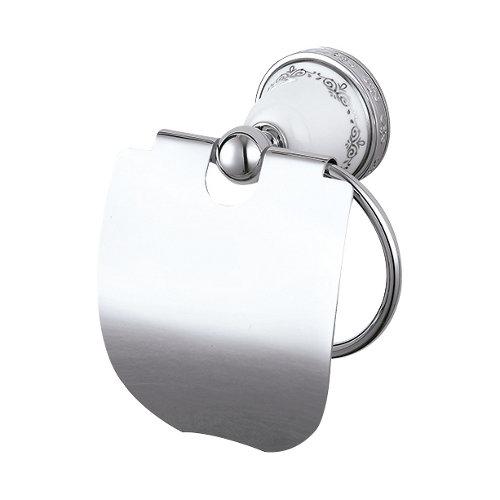 Portarollo wc con tapa kleo portarrollos gris / plata brillante 16x17,5x8,5 cm